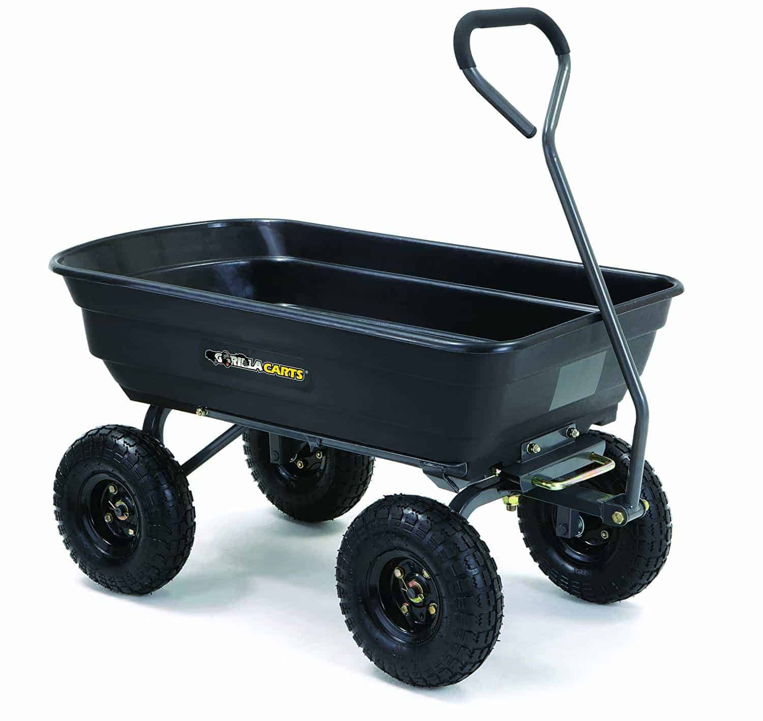 gorilla carts gormp- 12 steel dump cart