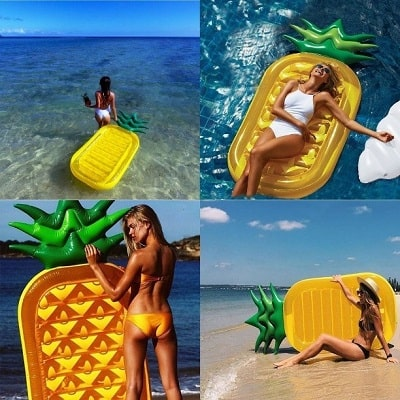 inflatable pineapple floating